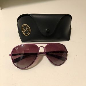Ray-Ban purple lightweight flexible sunglass